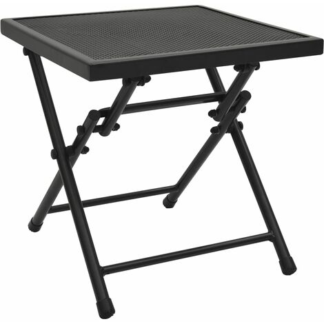 vidaXL Folding Table Mesh 38x38x38 cm Steel Anthracite - Anthracite