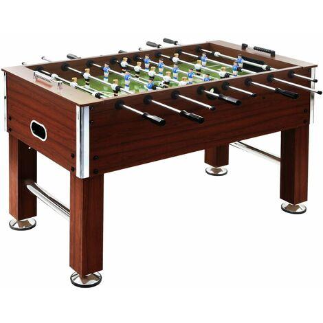 vidaXL Football Table Steel 60 kg 140x74.5x87.5 cm Kicker Soccer Table Football Game Table Home Living Room Entertainment Black/Brown