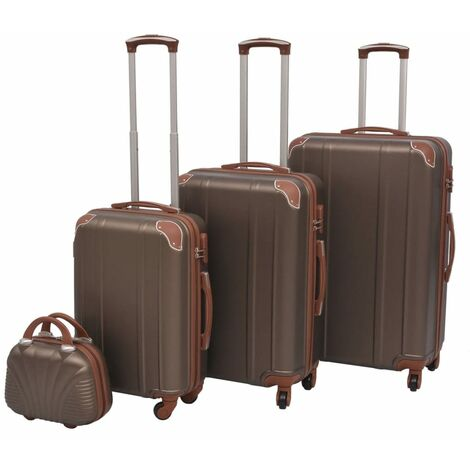 """main image of """"vidaXL Four Piece Hardcase Trolley Set with Rotating Castors Impact Resistant Stackable Luggage Cases Travel Suitcases Multi Colours"""""""