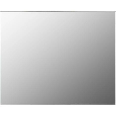 vidaXL Frameless Mirror 100x60 cm Glass - Silver