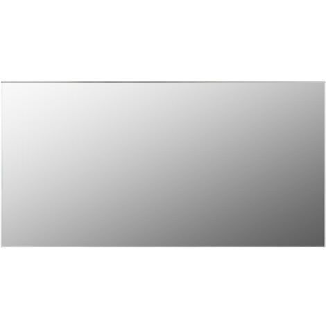 vidaXL Frameless Mirror 120x60 cm Glass - Silver