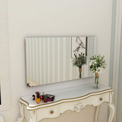vidaXL Frameless Mirror 140x60 cm Glass - Silver