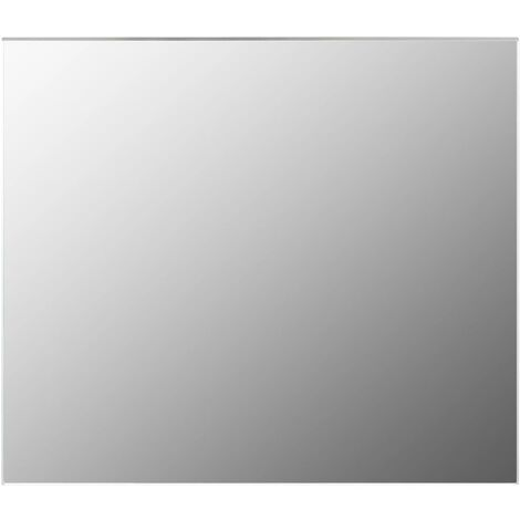 vidaXL Frameless Mirror 80x60 cm Glass - Silver