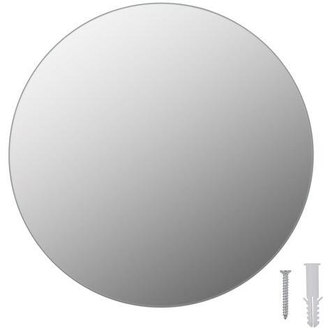 vidaXL Frameless Mirror Round 30 cm Glass - Silver