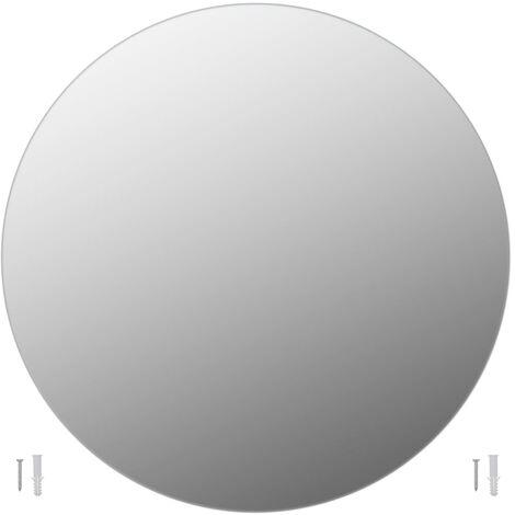 vidaXL Frameless Mirror Round 90 cm Glass - Silver