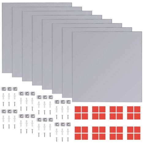 vidaXL Frameless Mirror Tiles Glass 8 pcs 20.5 cm - Silver