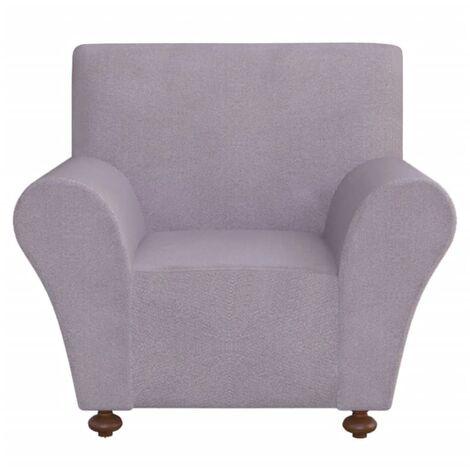 vidaXL funda elástica para sofá de tela jersey de poliéster color gris - Gris