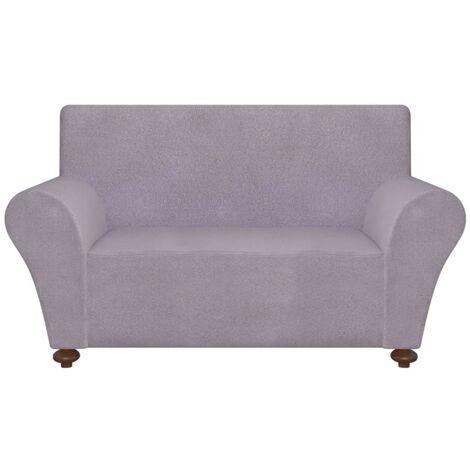 vidaXL funda elástica para sofá de tela jersey de poliéster gris - Gris