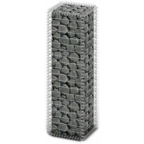 "main image of ""vidaXL Gabion Basket Retaining Wall with Lid Galvanized Wire Garden Multi Sizes"""