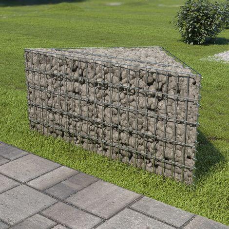 vidaXL Gabion Planter Galvanised Steel Stone Basket Bed 75x75x50cm/75x75x100cm