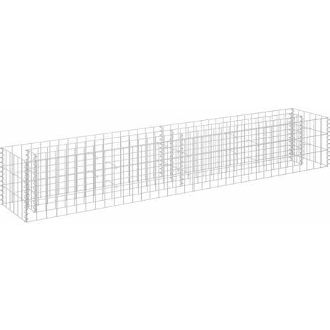 vidaXL Gabion Raised Bed Galvanised Steel 180x30x30 cm - Silver