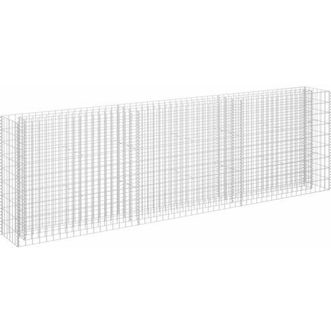 vidaXL Gabion Raised Bed Galvanised Steel 270x30x90 cm - Silver
