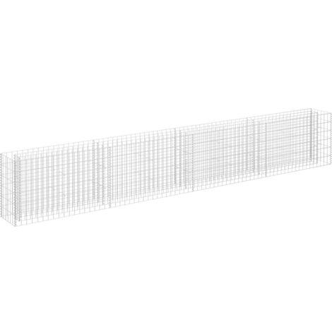 vidaXL Gabion Raised Bed Galvanised Steel 360x30x60 cm - Silver