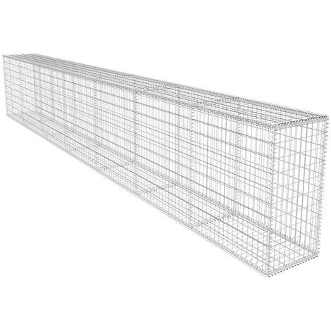 "main image of ""vidaXL Gabion Wall with Cover Welded Mesh Rock-Stone Wall 600x50x100 cm/ 200 cm"""
