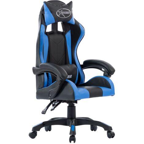 vidaXL Gaming Stuhl Höhenverstellbar mit Kopfkissen Taillenkissen Bürostuhl Schreibtischstuhl Drehstuhl Racing Sportsitz Chefsessel Kunstleder mehrere Auswahl