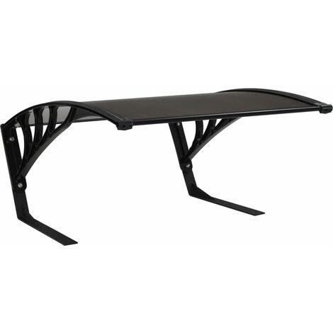 vidaXL Garage Roof for Robot Lawn Mower 77x103x46 cm Black - Black
