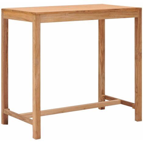 vidaXL Garden Bar Table 110x60x105 cm Solid Teak Wood - Brown