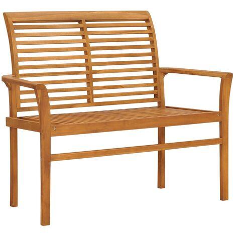 vidaXL Garden Bench 112 cm Solid Teak Wood - Brown