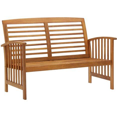 vidaXL Garden Bench 119 cm Solid Acacia Wood - Brown