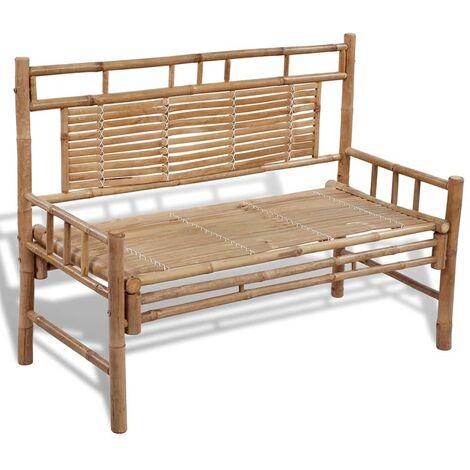 "main image of ""vidaXL Garden Bench 120 cm Bamboo - Brown"""