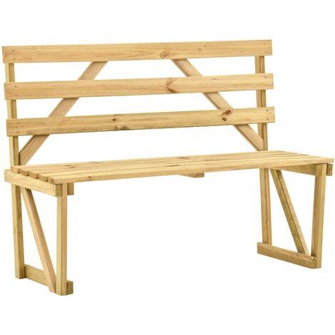 "main image of ""vidaXL Garden Bench 120 cm Impregnated Pinewood - Green"""