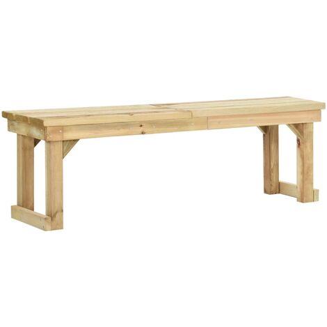 vidaXL Garden Bench 140 cm Impregnated Pinewood - Brown
