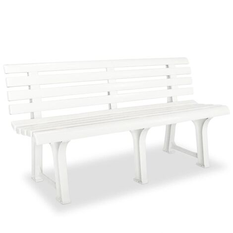 vidaXL Garden Bench 145.5x49x74 cm Plastic Outdoor Bench Seat Multi Colours
