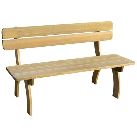 vidaXL Garden Bench 150 cm Impregnated Pinewood - Brown