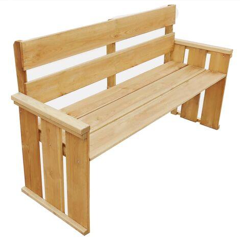vidaXL Garden Bench 160 cm Impregnated Pinewood - Brown