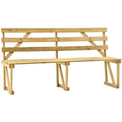 "main image of ""vidaXL Garden Bench 170 cm Impregnated Pinewood - Brown"""
