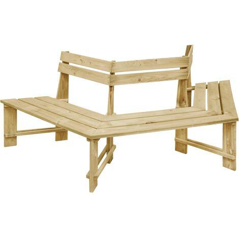 vidaXL Garden Bench 240 cm Impregnated Pinewood - Green