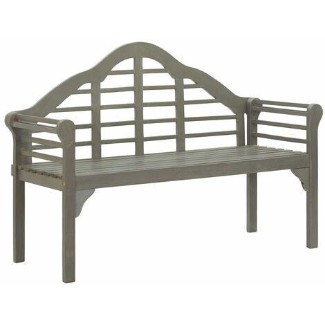 vidaXL Garden Bench Grey Wash 135 cm Solid Acacia Wood - Grey