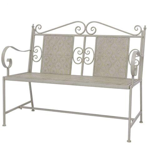 Garden Bench 115 cm Steel Grey
