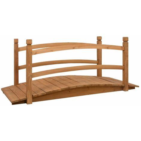 vidaXL Garden Bridge 140x60x60 cm Solid Firwood - Brown