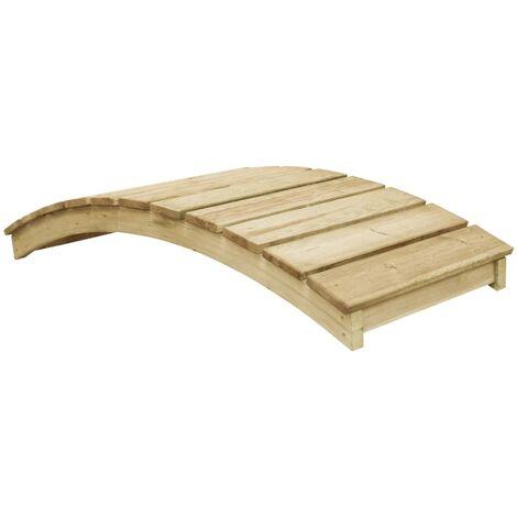 vidaXL Garden Bridge 170x74 cm Impregnated Pinewood - Green