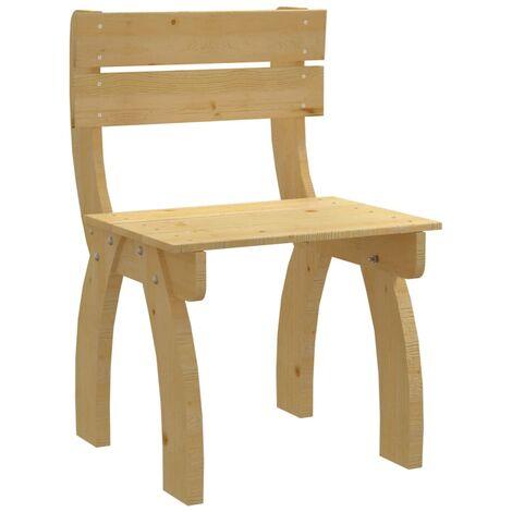 vidaXL Garden Chair Impregnated Pinewood - Brown