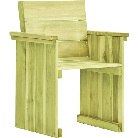 vidaXL Garden Chair Impregnated Pinewood - Green