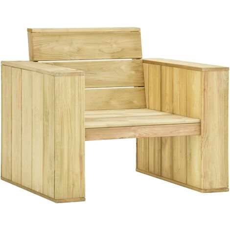 vidaXL Garden Chairs 89x76x76 cm Impregnated Pinewood 2 pcs - Green
