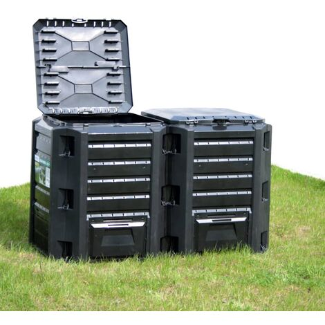vidaXL Garden Composter Black 1200 L - Black