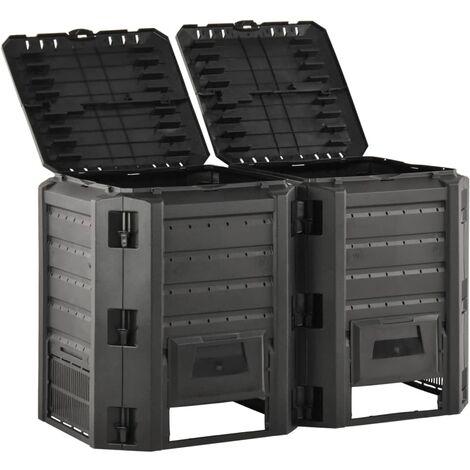 vidaXL Garden Composter Black 800 L - Black