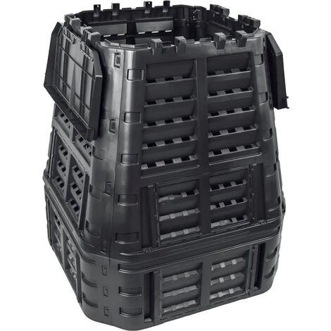 vidaXL Garden Composter Black 93.3x93.3x113 cm 740 L - Black
