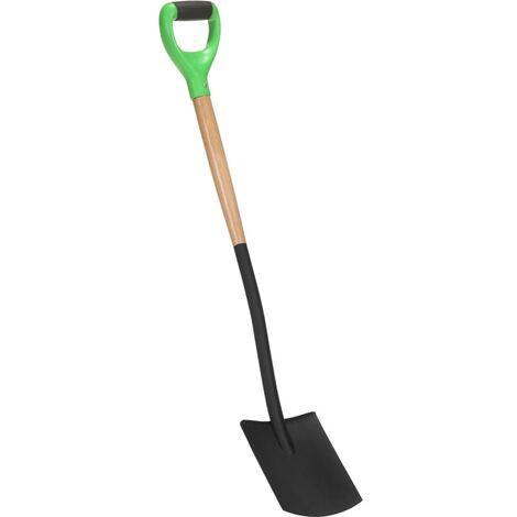 vidaXL Garden Digging Spade D Grip Steel and Hardwood