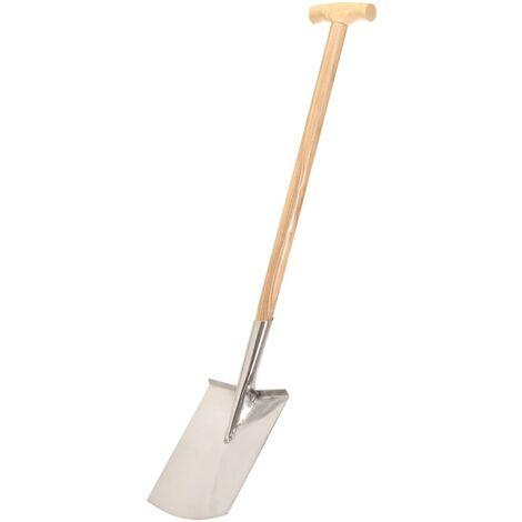 vidaXL Garden Digging Spade T Grip Stainless Steel and Ashwood