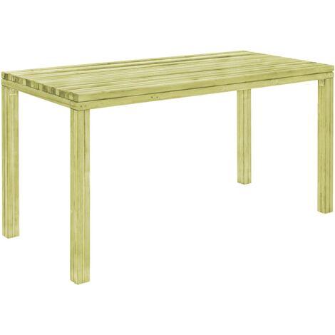 vidaXL Garden Dining Table Outdoor Indoor Dining room Kitchen Patio Tables Furniture Impregnated Pinewood 150x75.5x77 cm/170x75.5x77 cm