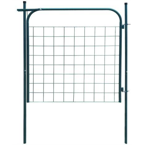 vidaXL Garden Fence Gate 100x100 cm Green - Green