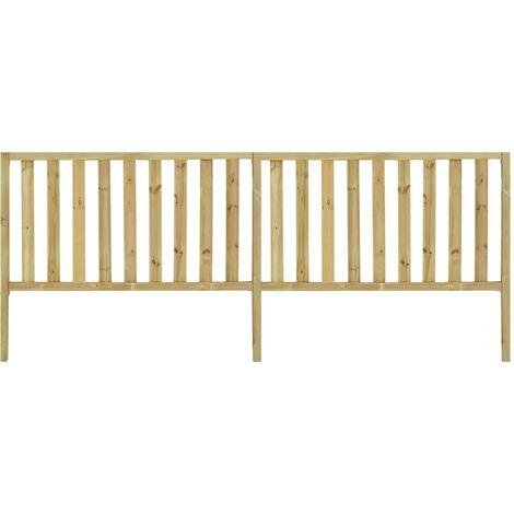 vidaXL Garden Fence Impregnated Pinewood 3.58x1.5 m - Brown