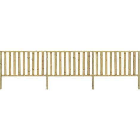 vidaXL Garden Fence Impregnated Pinewood 5.34x1.5 m - Brown