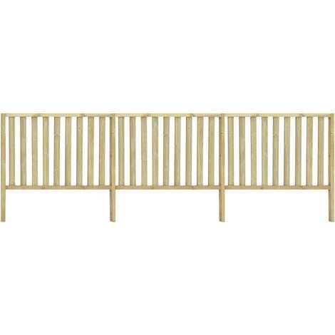 vidaXL Garden Fence Impregnated Pinewood 5.34x1.7 m - Brown