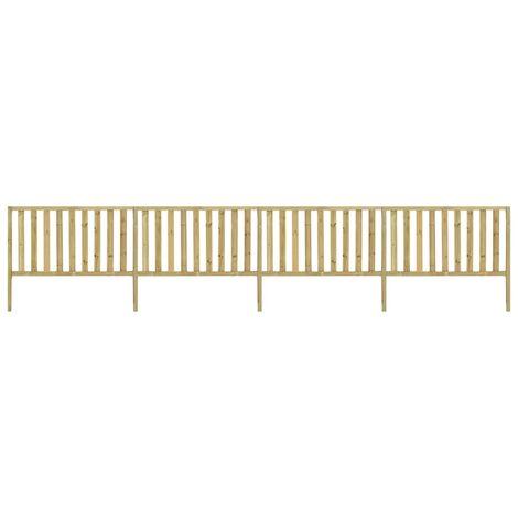 vidaXL Garden Fence Impregnated Pinewood 7.1x1.5 m - Brown