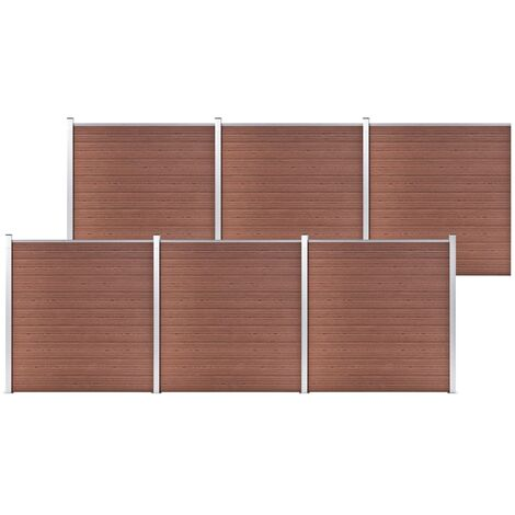 vidaXL Garden Fence WPC 1045x186 cm Brown - Brown